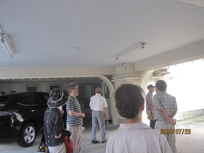 2018.07.29 上京・北・左京地区集会で2015年に実施した耐震改修工事を見学 於・シャトー銀閣(2)